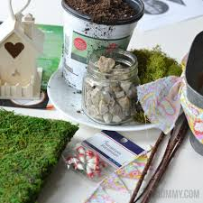 Gardening Basket Gift Ideas by Mini Fairy Garden In A Tin Gift Handmade Mother U0027s Day Gift Ideas