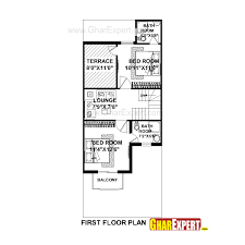 house plan for 20 feet by 50 feet plot plot size 111 square yards