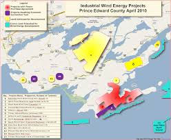 Map Of Eastern Canada by Map Of Prince Edward County Wind Turbine Projects Wind Turbine