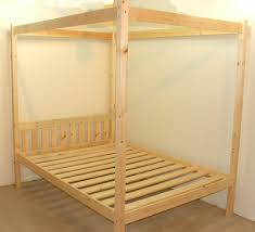 Solid Pine Bed Frame Quattro 4ft Small Four Poster Solid Pine Bed Frame Home
