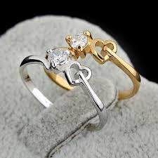 heart design rings images Hot sale ring round cz heart design engagement rings wholesale for jpg