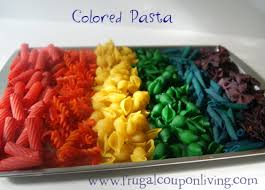 easy to make colored pasta and do it yourself toddler activities