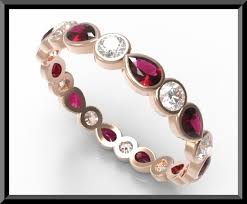 ruby band ruby wedding band gold wedding band gold wedding band