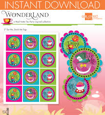 alice in wonderland template mad hatter tea party inspired printable eat me drink me favor