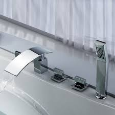 monora brushed nickel waterfall tub faucet three handles bathtub faucet and shower head home design game hay us