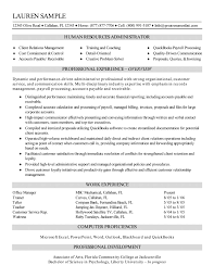 Skill Samples For Resume by Resources Administrator Resume