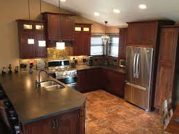 peninsula kitchen cabinets minnesota peninsula kitchen has cherry cabinets in a traditional