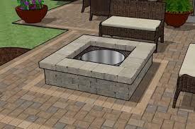 square fire pits designs square stone fire pit house pinterest stone patios bricks