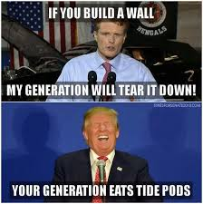 Build Your Meme - if you build a wall my generation will tear it down steemit