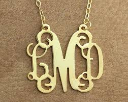 3 initial monogram necklace silver best 25 gold monogram necklace ideas on monogram