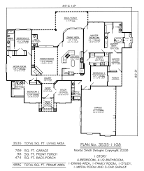 Four Bedroom House Floor Plans by 100 1 Story Home Plans Homey Idea 1 Story Lake House Plans