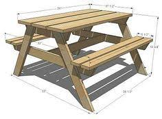 picnic table woodworking plan woodworking pinterest