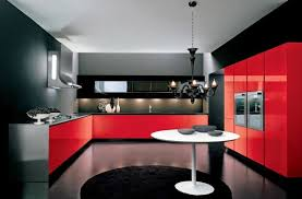 black and red kitchen designs red kitchen cabinets traditional