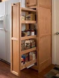 Tall Kitchen Cabinet by The Narrow Cabinet Beside The Fridge Pulls Out To Reveal A Spice