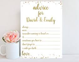 Advice To Bride And Groom Cards Advice Cards Etsy