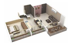 2 Bhk House Plan 25 One Bedroom House Apartment Plans