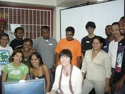 dotti colvin and 3d animation trainees animae caribe