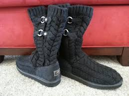 s ugg australia black boots s ugg australia tularosa route cable black boots 3177 sz