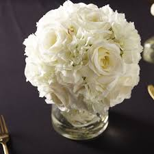 white floral arrangements hydrangea and arrangement in glass vase reviews joss