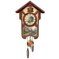 the kinkade cuckoo clock hammacher schlemmer