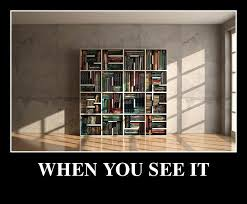When You See It Meme - you see it bookcase