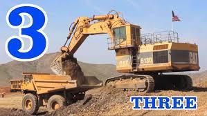 dump truck excavators u0026 dump trucks teaching numbers 1 to 10 learning to