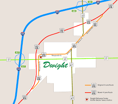 Route 66 Map by Route 66 Dwight Economic Alliance