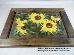 painted serving platters sunflower painting serving tray