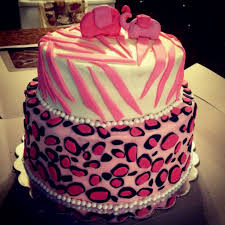 pink leopard print baby cake decorating of party
