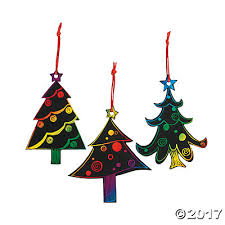 color scratch christmas tree ornaments