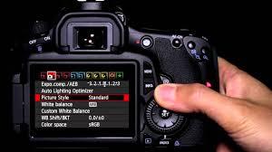 tutorial fotografi canon 600d canon eos 60d tutorial picture style operation 10 14 youtube