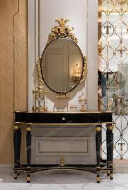 Hallway Table And Mirror Antiqueole Table With Mirror In Hallway Stock Photo Image Grey