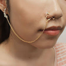 connecting earrings nose chain jewelry watches ebay