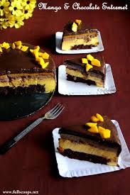 mango and chocolate entremet full scoops