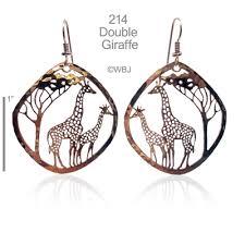 giraffe earrings giraffes bryde nature jewelry designs animals wildlife