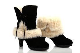 ugg boots womens heels ugg fur suede high heeled boots 5108 black uggyi00000107 black