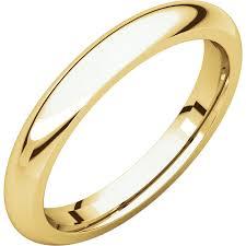 comfort wedding band 14k gold 3 mm comfort fit wedding band