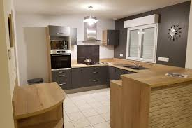 cuisines bois réalisations cuisine bois et taupe de cuisines avec socoo c