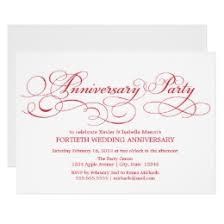 40th anniversary invitations 40th anniversary invitations 1300 40th anniversary announcements