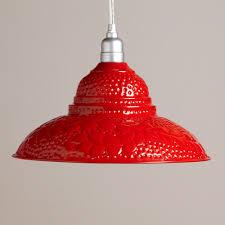 world market pendant light red punched metal pendant world market for over sink could