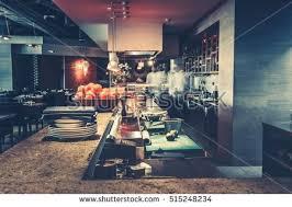 restaurant kitchen furniture restaurant kitchen interior bar counter made stock photo 515248234