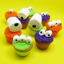 googly eye fun marshmallow monster halloween cupcakes for kids and