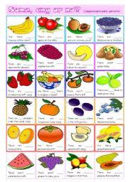 editable fruit some any or no fruit grammar and vocabulary exercises editable