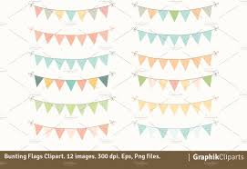 bunting flags clipart collection