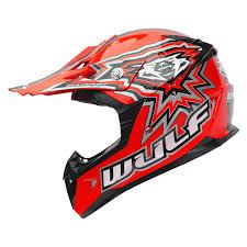 motocross helmet wulf cub flite xtra motocross helmet kids junior childrens mx atv