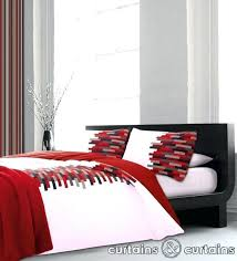 Red And White Buffalo Check Curtains Red And White Single Duvet Covers Red And White Duvet Cover Sets