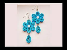 paper ear rings quilling paper earrings with comb earrings designs
