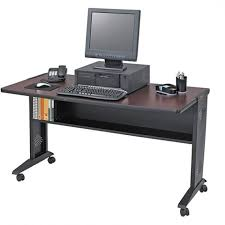 Movable Computer Desk Safco 54 Inch Reversible Top Mobile Computer Desk Free Shipping