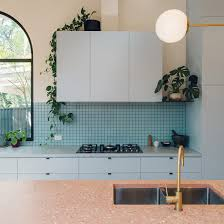duck egg blue for kitchen cupboards ten home kitchens that use colour to make a statement