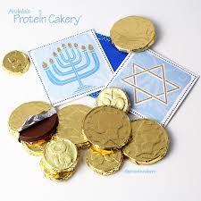 hanukkah chocolate coins protein hanukkah gelt andréa s protein cakery
